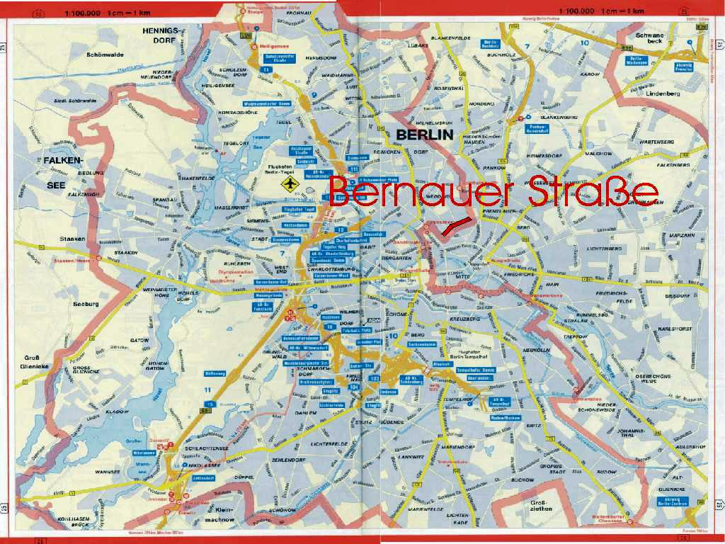 West Berlin Karte.The Berlin Wall Bernauer Road